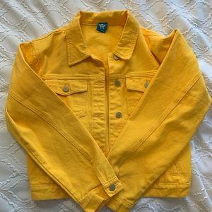 Yellow denim jacket/ jean jacket ~rare~
